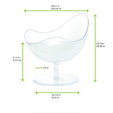 Transparent Waved Cup -0.25oz Dia At Low Lip:2.7in H:2.75in