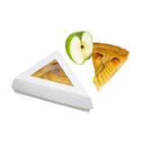 White Slice Box With Pe Window Lid -12oz 6.7 x 5.1 in.