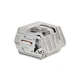 Newspaper Print Mini Slider Box -2oz L:2.8 x W:2.8 x H:2in
