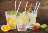 Durable Blue & White Striped Paper Straws - 7.75 Inches