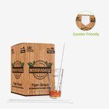 Durable Solid White Paper Straws Wrapped - L:7.75in Dia:.23in