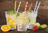 Durable Solid Black Paper Straws Unwrapped - Dia:.23in L:7.75in