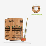 Durable Kraft Paper Straws Wrapped - Dia:.23in L:7.75in