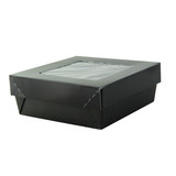 Bakeable Black Kray Box With Pet Lid -12oz L:4.65 x W:4.7in H:2in