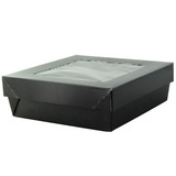 Bakeable Black Kray Box With Pet Lid -12oz L:5.5 x W:5.45 x H:2in