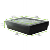 Bakeable Black Kray Box With Pet Lid -12oz L:9.25 x W:5.5 x H:1.9in