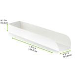 White Hot Dog Tray - L:9.75 x W:2.1 x H:1.3in