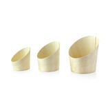 Slanted Wood Cup -2.5oz Dia:2.1in H:2.75in