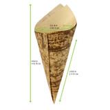 Bamboo Leaf Cone 2 Layers -5oz Dia:2.7in L:6.6in