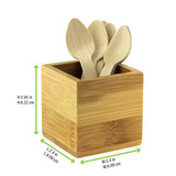 Order A Sample - Bamboo Cutlery & Napkin Holder - L:2.4 x W:2.4 x H:2.45in