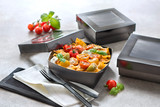 Order A Sample - Bakeable Black Kray Box With Pet Lid -12oz L:4 x W:3.95 x H:1.55in