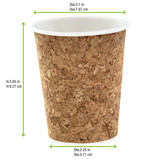 Order A Sample - Insulated Corked Coffee Cup -8oz Dia:3.1in H:3.65in