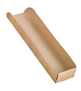 Order A Sample - Kraft Hot Dog Tray - L:9.75 x W:2.1in H:1.3in