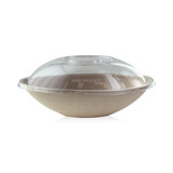 Bio N Chic Brown Oval Sugarcane Bowl -34oz L:9.5 x W:6 x H:2.5in