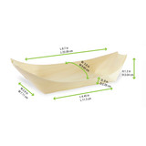 Large Wooden Boat -12oz L:8.7 x W:3.8 x H:1.2in