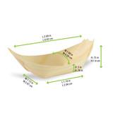 Mini Wooden Boats - L:2.69 x W:1.68 H:.75in