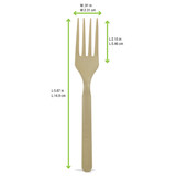 Compostable & Heat Proof Corn Bamboo Fiber Fork - L:5.87in