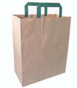 Kraft Paper Bag With Handle - L:10.15 x W:6.5 x H:11.1in