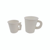 White Paper Cup W/ Handle -4oz Dia:2.44in