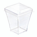 Taiti Clear Square Cup -2oz L:1.75 x W:1.75in x H:2.17in