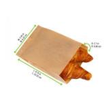 Brown All Purpose Bag - L:8.75 x W:2.45 x H:2.7in