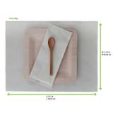 Cream Paper Place Mat - L:15.7 x W:11.75in