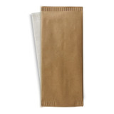 Beige Cutlery Paper Bag With White Napkin 2-Ply - L:15 x W:15.1in