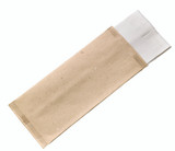 Cream Cutlery Paper Bag With White Napkin 2-Ply - L:15 x W:15.1in