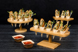 10 Holes Bamboo Cone And Temaki Display -4oz Dia:7.1in H:3.65in
