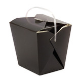 Black Take Out Box with Handle - 26 oz 1.25 x 3.5 x 4 in