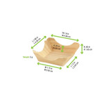Pin Up Wooden Square Plate - L:1.2 x W:1.15 x H:.65in