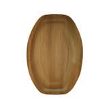 Oval Palm Leaf Plate - L:14 x W:9.75 x H:1.3in