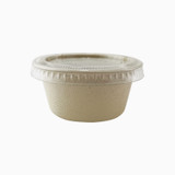 Brown Sugarcane Souffle Portion Cup -2oz Dia:2.4in H:1.18in