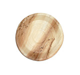Round Palm Leaf Dinner Plate - Dia:3.93in H:.7in