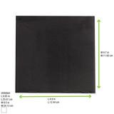 Point To Point Black Tissue Napkin - L:8 x W:8in