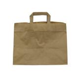 Kraft/Brown Paper Carrier Bag - L:12.5 x W:8 x H:9.6in