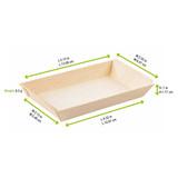 Rectangular Samurai Wooden Dish -5oz L:5.15 x W:2.55 x H:.7in
