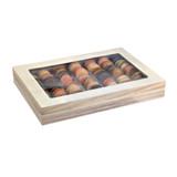 Atlas Wooden Lunch Box With Window Lid - L:14.85 x W:10.5 x H:2.2in