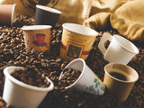 Compostable Rippled Kraft Cup -16oz Dia:3.5in H:5.4in