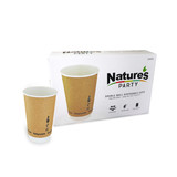 Double Wall Kraft Compostable Paper Cup -12oz Dia:3.5in H:4.3in