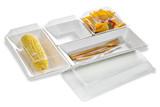 Eco-Design Sugarcane Compartment Tray - 15.7 x 10.6 x 1.1 in