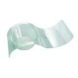 Gizmo Green Transparent Wave Dish -0.25oz L:3.85 x W:1.65 x H:.9in