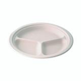 3-Compartment Fiber Plate - L:9.84in