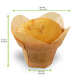 Lotus Golden Brown Silicone Baking Cup -1.25oz Dia:2.9in H:1.95in
