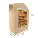 Brown Wrap Cookie Sleeve With Window -24oz 5.9 x 3.7 x 1.9 in.