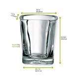 Quadra Shooter Glass -2oz L:2 x W:2 x H:2.38in