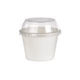 White Sugarcane Takeout Bowl -12oz Dia:4.55in H:2.5in
