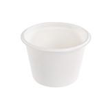 White Sugarcane Takeout Bowl -16oz Dia:4.5in H:3.25in