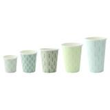 Leaf Design Paper Cup -4oz Dia:2.45in H:2.43in