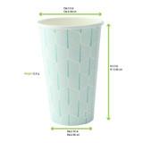 Leaf Design Paper Cup -16oz Dia:3.5in H:5.3in